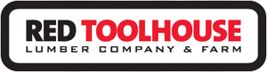 Red Tool House Lumber Company and Farm Logo